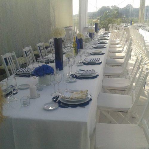 mesa de cerimonia branca