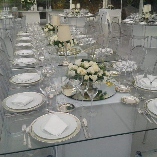 mesa de cerimonia de vidro